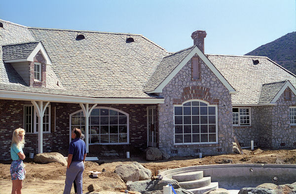 Country french house plans for Stone and brick home designs