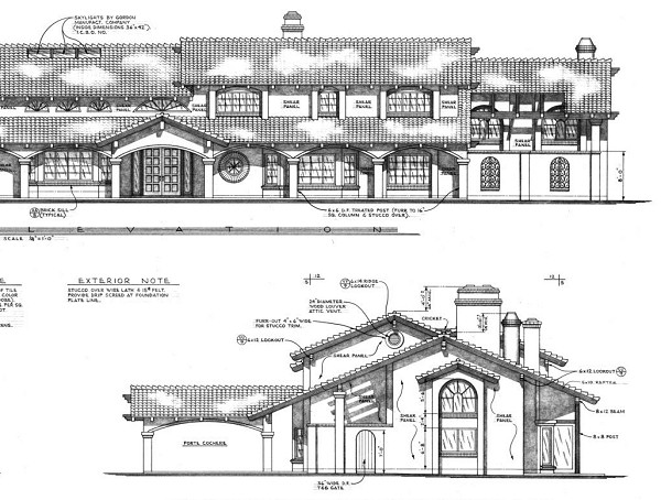 unique house plans show the exterior design style and provide plenty of detail