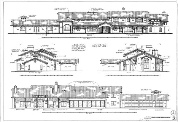 Elevation Plan Details : Detailed and unique house plans