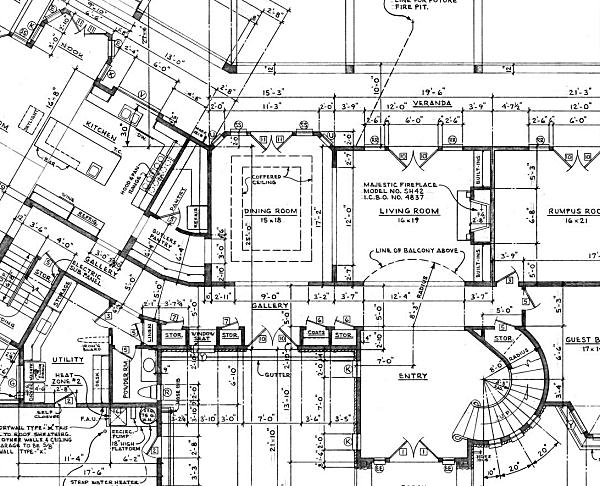 Here is a close-up view of the floor plan detail. house floor plan