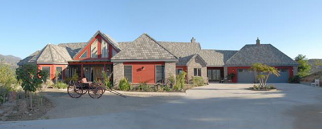 ranch style plan - front view